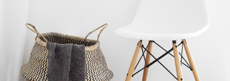 Minimalistic, Clean, Simple, Chair, Basket, Downsizing